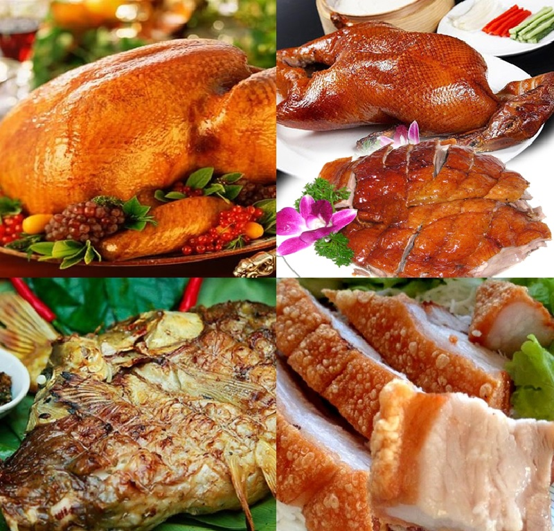 Các món ăn từ lò quay vịt