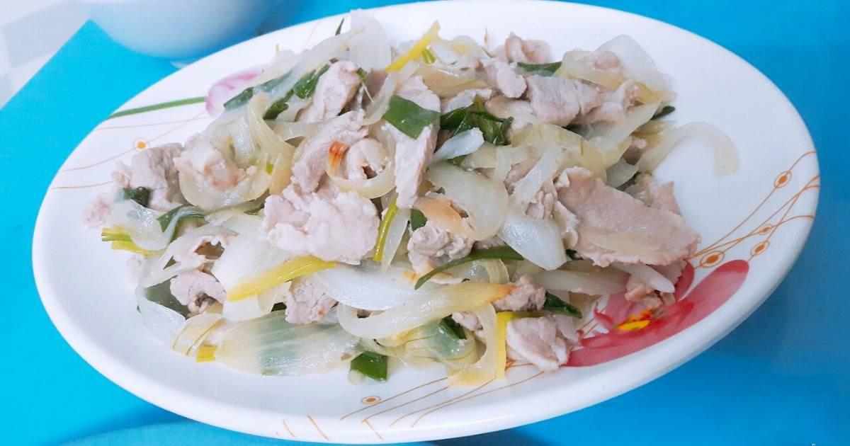 Các món xào từ thịt lợn