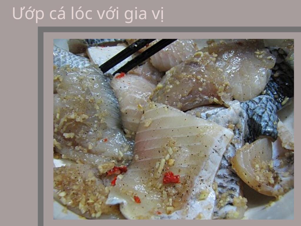 ướp cá với gia vị - cách nấu bánh canh cá lóc ngon để bán