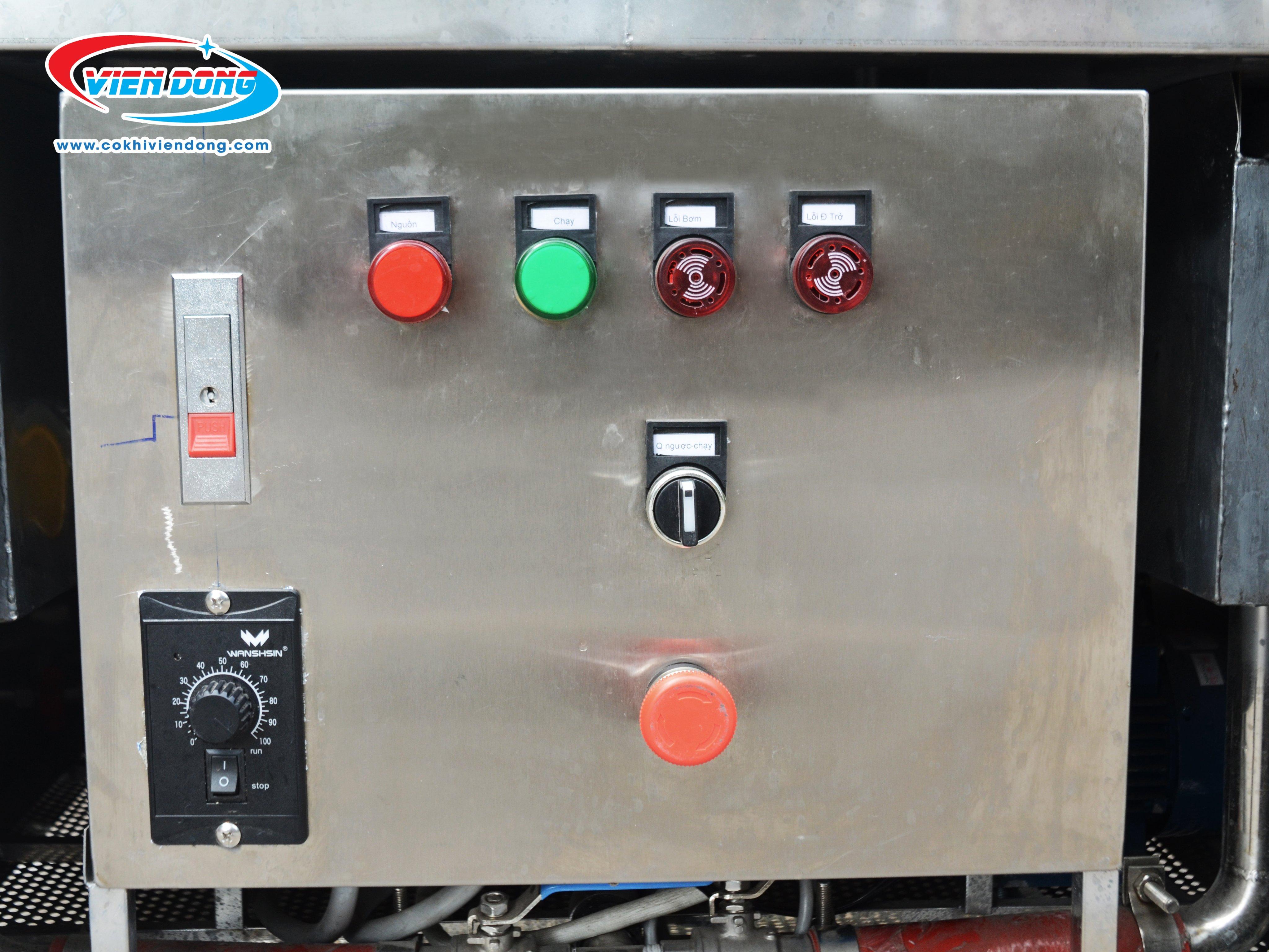 Bảng điều khiển máy rửa chén bát xoay 360