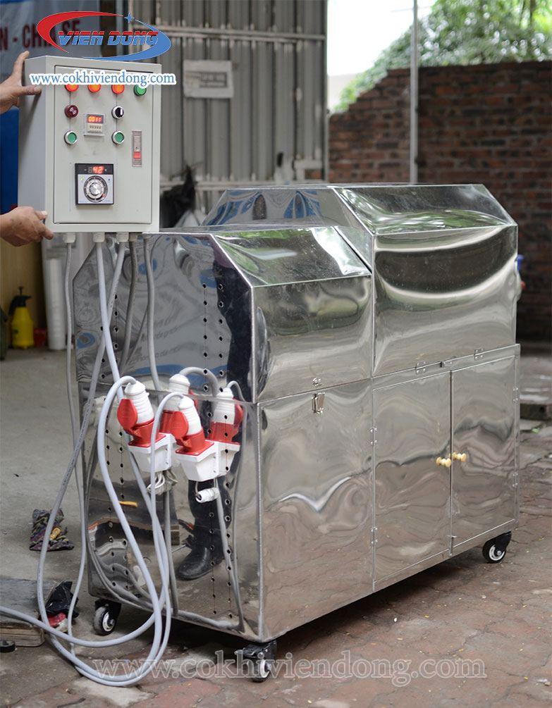 Máy rang hạt điều VDR30 có thiết kế tủ điều khiển rời
