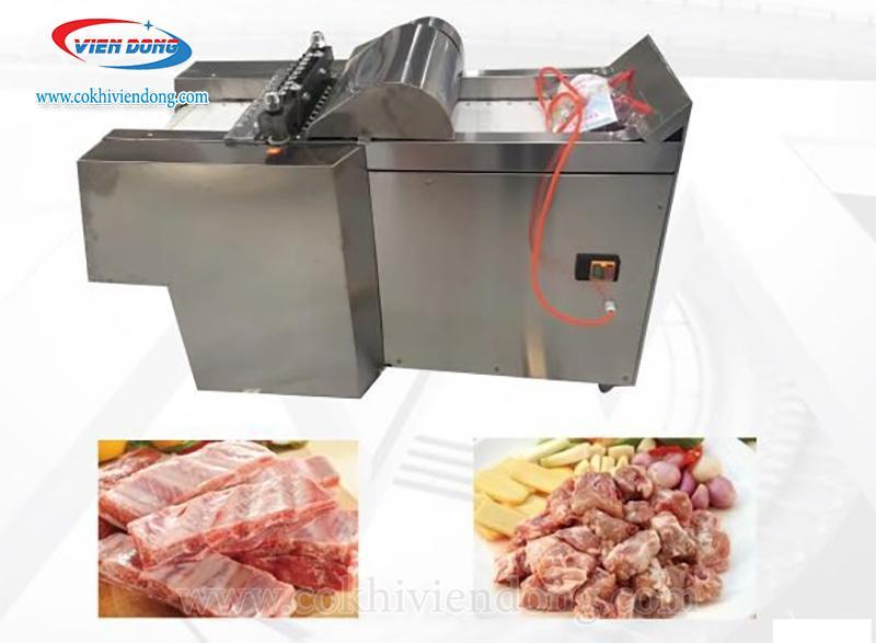 Máy chặt thịt gà nguyên con, sườn nguyên miếng, rau củ quả